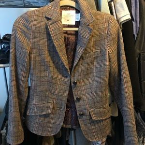 H&M Brown Plaid Blazer Size 2